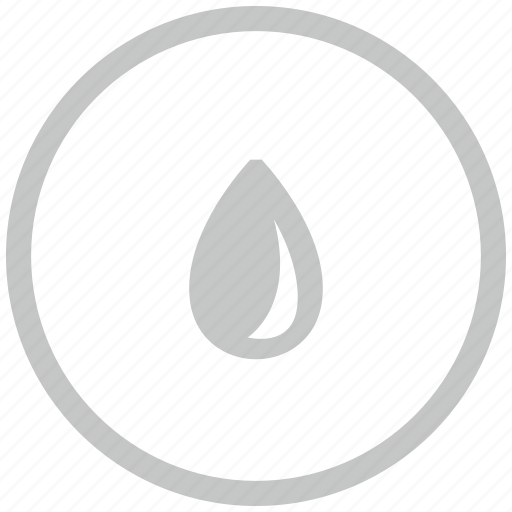 border, circle, drop, fluid, water icon