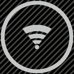 access, border, circle, internet, wifi icon