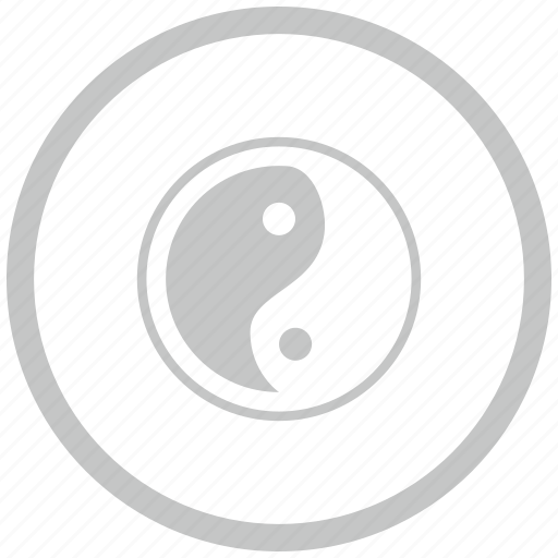 border, circle, religion, yang, yin icon