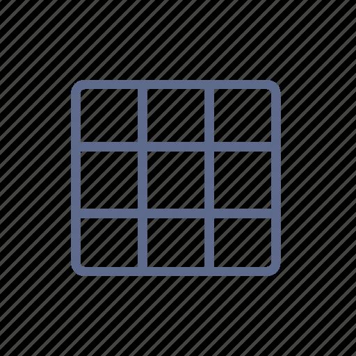 block, composition, grid, gridiron, lattice, rubik, tile icon