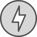 effect, flash, lightcircle icon