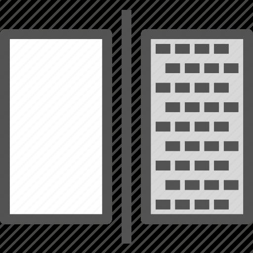 edit, monitor, photoshop, screen, split icon