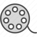 clip, film, movie, negative, video icon