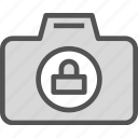 camera, device, lock, photography, photoshoot icon