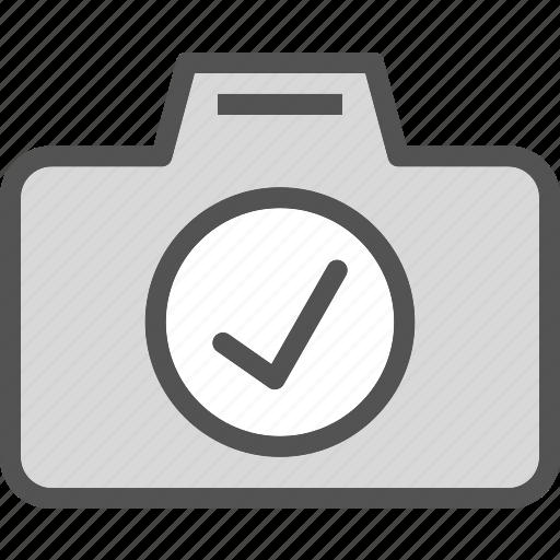 camera, device, ok, photography, photoshoot icon