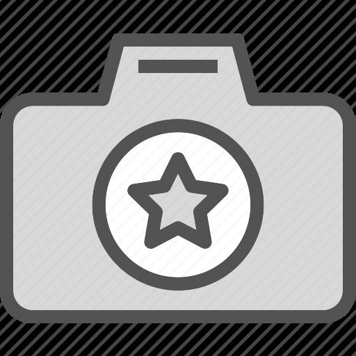 camera, device, photography, photoshoot, star icon