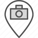 camera, device, map, photography, photoshoot, pin, point icon