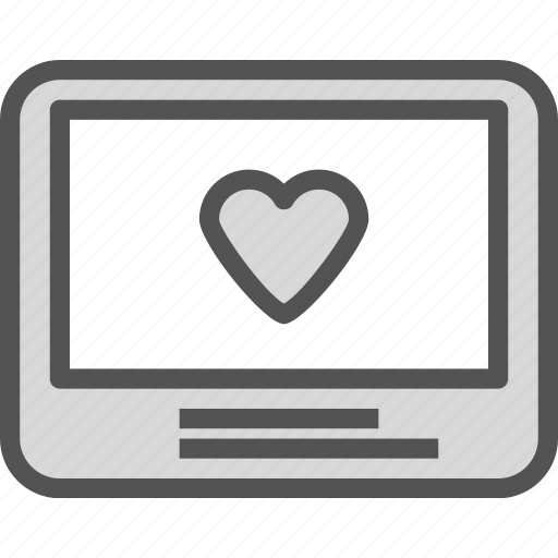 edit, frame, heart, monitor, passion, photo icon
