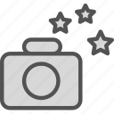 camera, device, photography, photoshoot, stars icon