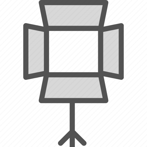 box, brightness, lights, studio icon