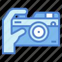 camera, digital, film, hand, photographic icon