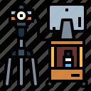 camera, monitor, shooting, studio, tripod