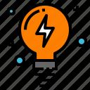 creativity, idea, lamp, lightbulb, thunder