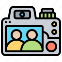 back, camera, dslr, photo, viewfinder icon