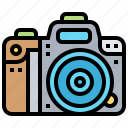body, camera, digital, dslr, photographer icon