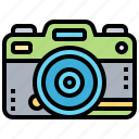 camera, dslr, front, professional, view icon