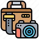 accessory, bag, camera, carrying, case icon