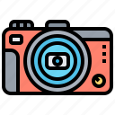 camera, compact, digital, pictures, travel icon