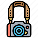 belt, camera, handle, hanging, strap icon
