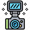 accessory, camera, equipment, external, flash icon