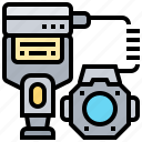 accessory, camera, flash, gadget, ring icon