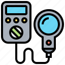 aperture, bright, exposure, light, meter icon