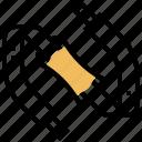 hanging, shoulder, camera, strap, accessory icon