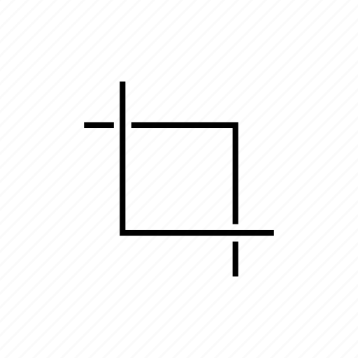 crop, design, outline, photography, setting icon