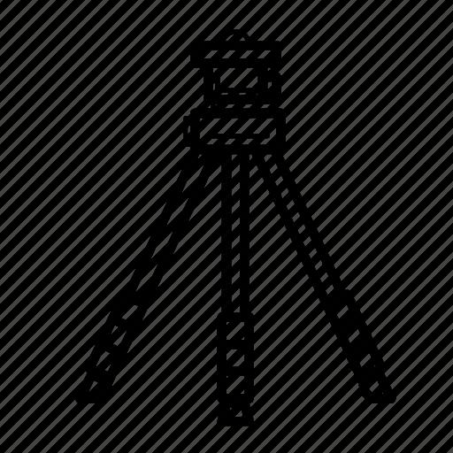 camera gear, equipment, photography, tripod icon