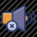 mute, no sound, no speaker, no volume, volume off icon