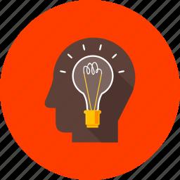 accomplishments, achievement, creation, mediation, ponder, smart, strategy icon