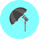 accessories, film, lamp, lighting, lightning, photography, umbrella icon