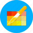 color, drawing, graphic, paint, painting, palette, pipette icon
