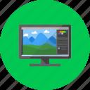 program, desktop, photoshop, software, display, monitor, technology