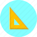 ruler, measure, design, graphic, paint, tool, triangle
