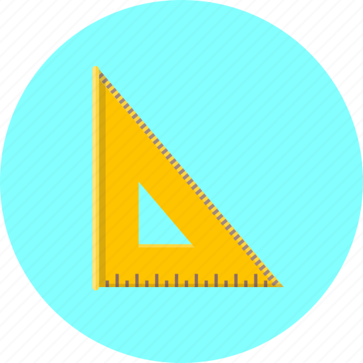 design, graphic, measure, paint, ruler, tool, triangle icon