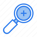 add, in, magnifier, photography, search, seo, zoom