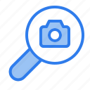 camera, find, magnifier, media, photography, search, seo