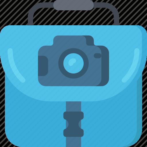 bag, camera, equipment, photographer, photographs, photography icon