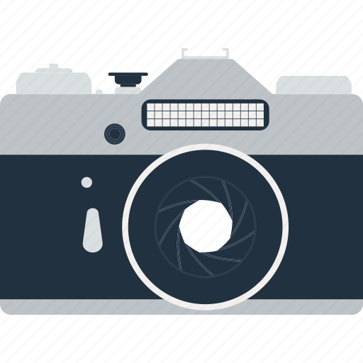 camera, design, film, flat, photography, professional, retro icon