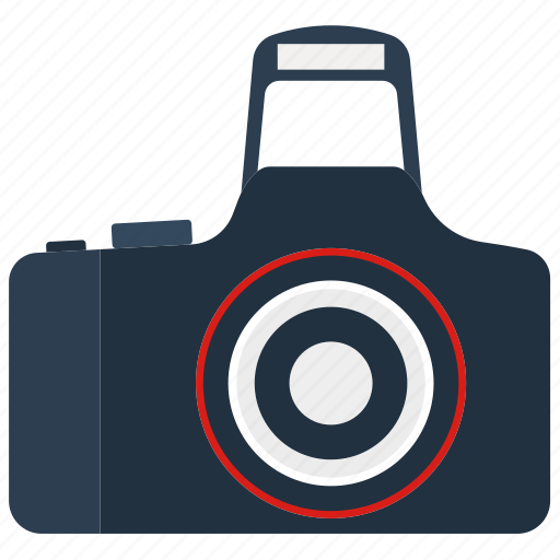 camera, design, digital, flat, modern, photography, professional icon