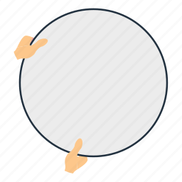 circle, design, flat, hand, photography, professional, reflector icon