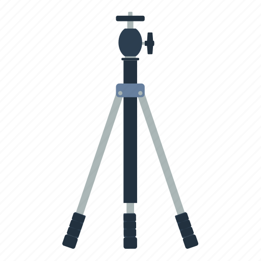 design, equipment, flat, photography, professional, stand, tripod icon