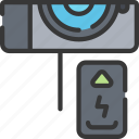 battery, camera, charge, photographer, photographs, photography icon