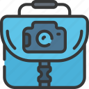 bag, camera, equipment, photographer, photographs, photography icon
