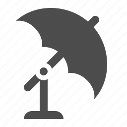 equipment, photography, reflector, stand, umbrella icon