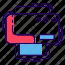 inkjet printers, laser printer, photocopier, printer, printing machine icon