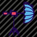 floodlight, light box, spotlight, studio lamp, studio lightning, studio umbrella light icon