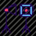 floodlight, light box, spotlight, studio equipment, studio lamp, studio lightning, studio lights icon