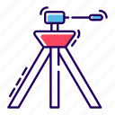 camera, camera stand, photography equipment, tripod camcorder, tripod camera, tripod stand icon